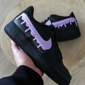 Custom Black Air force 1